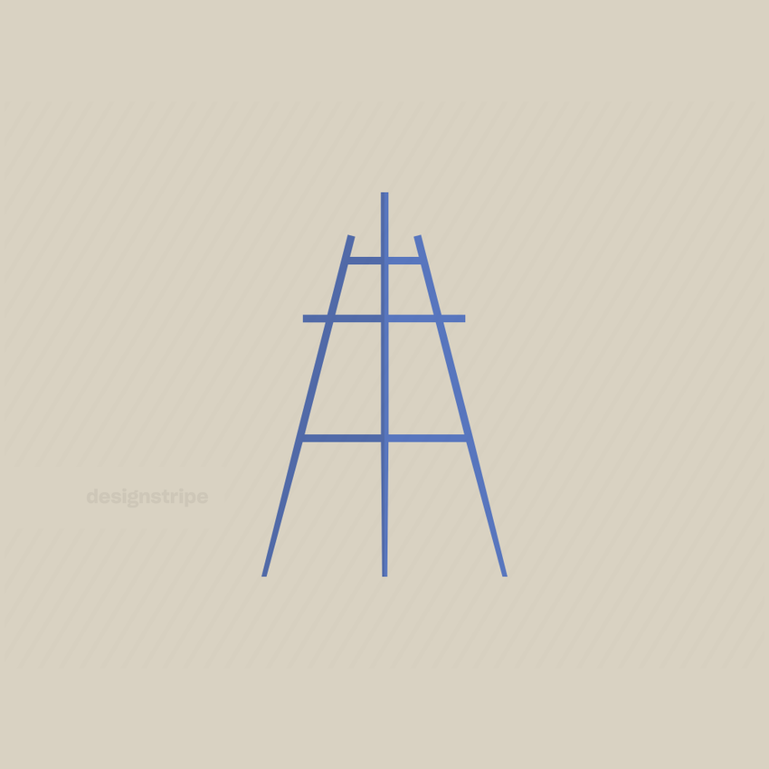 Illustration Of Easel Or Display Stand