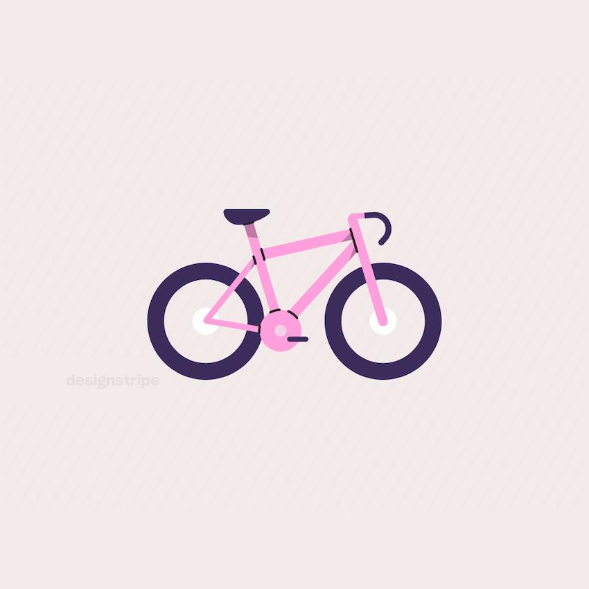 Illustration Of Racing Bike