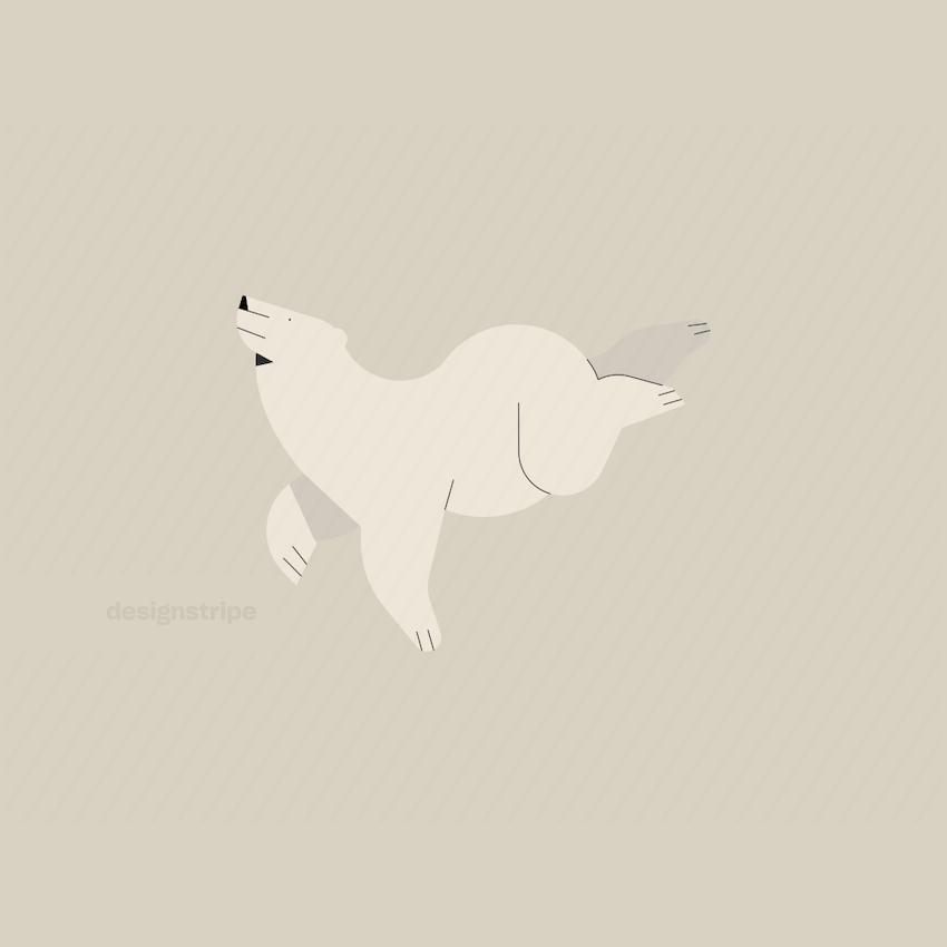 Illustration Of Bear Swimming