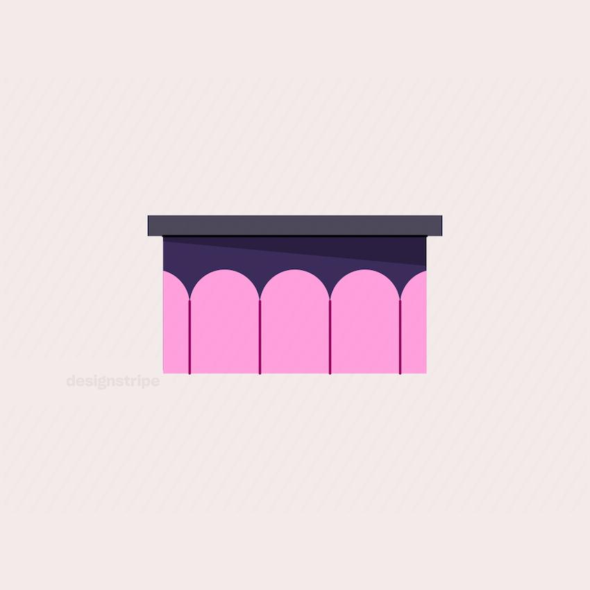 Illustration Of Reception or Service Desk
