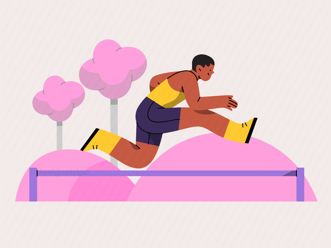 Illustration Of Athlete Training Outdoors