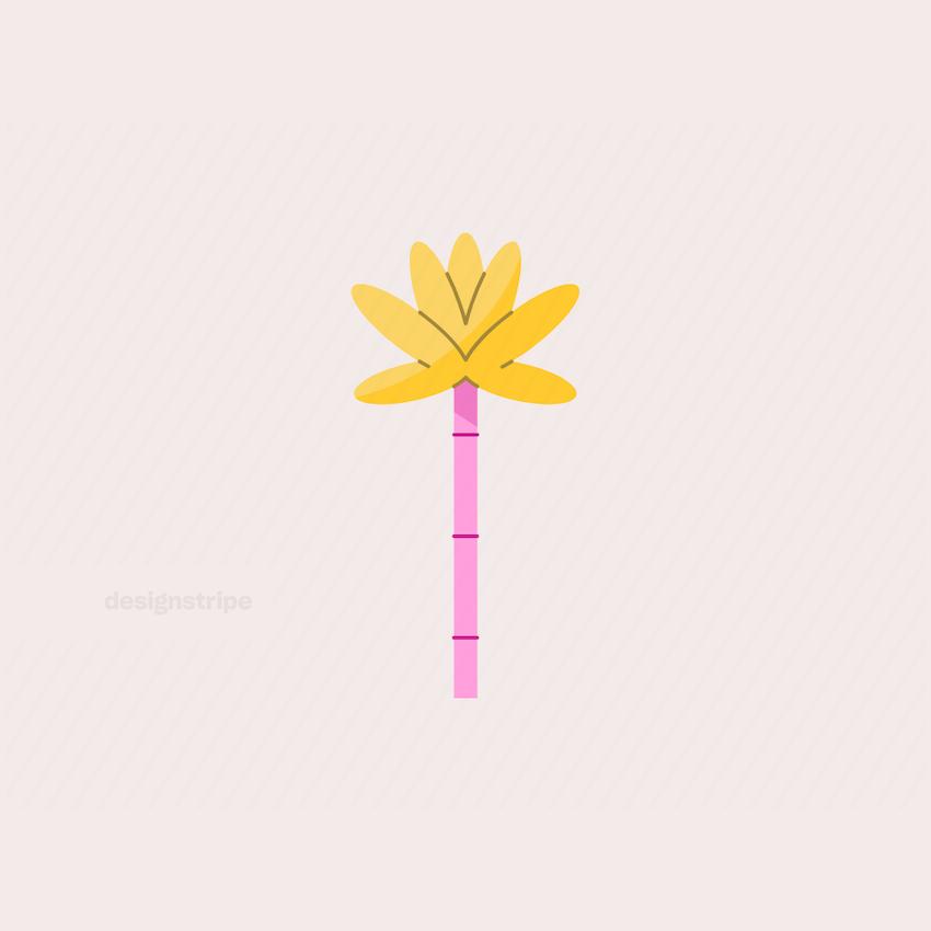 Illustration Of Palm Tree
