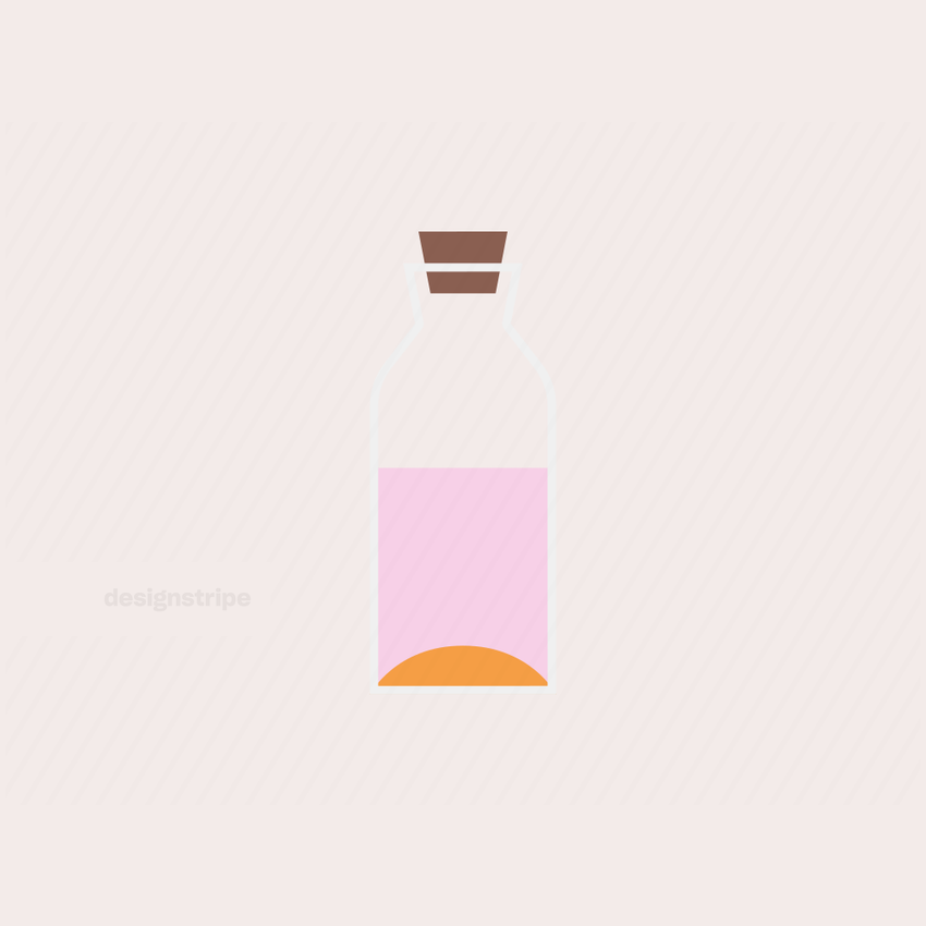 Illustration Of Oil Bottle with Liquid or Carafe