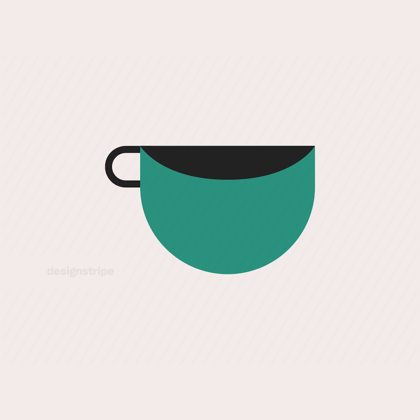 Illustration Of Basic Round Coffee Cup