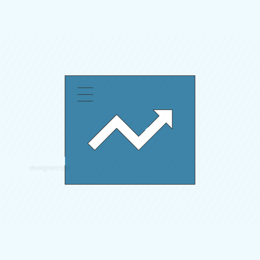 Illustration Of Increasing Arrow Graph