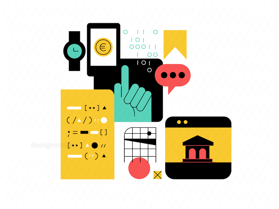Illustration Of Productivity And Financial Technology