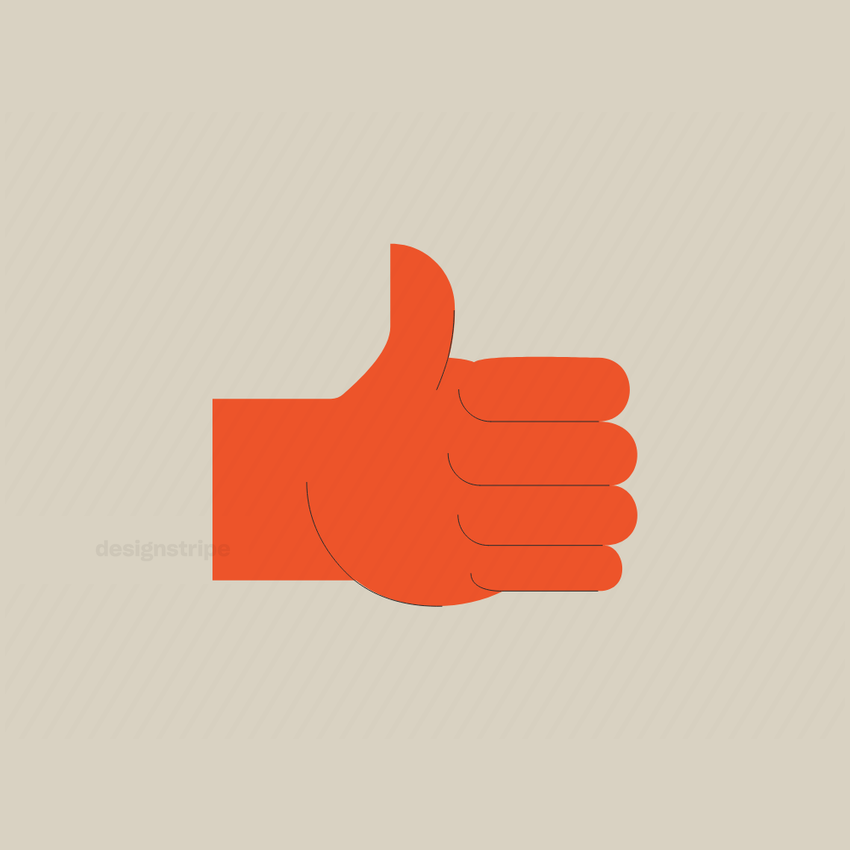 Illustration Of Thumbs Up Emoji Or Icon