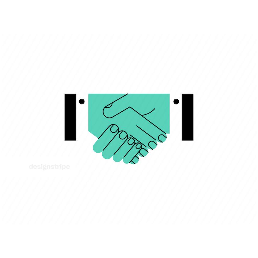 Illustration Of Hands Shaking
