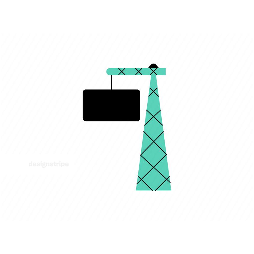Illustration Of Construction Crane