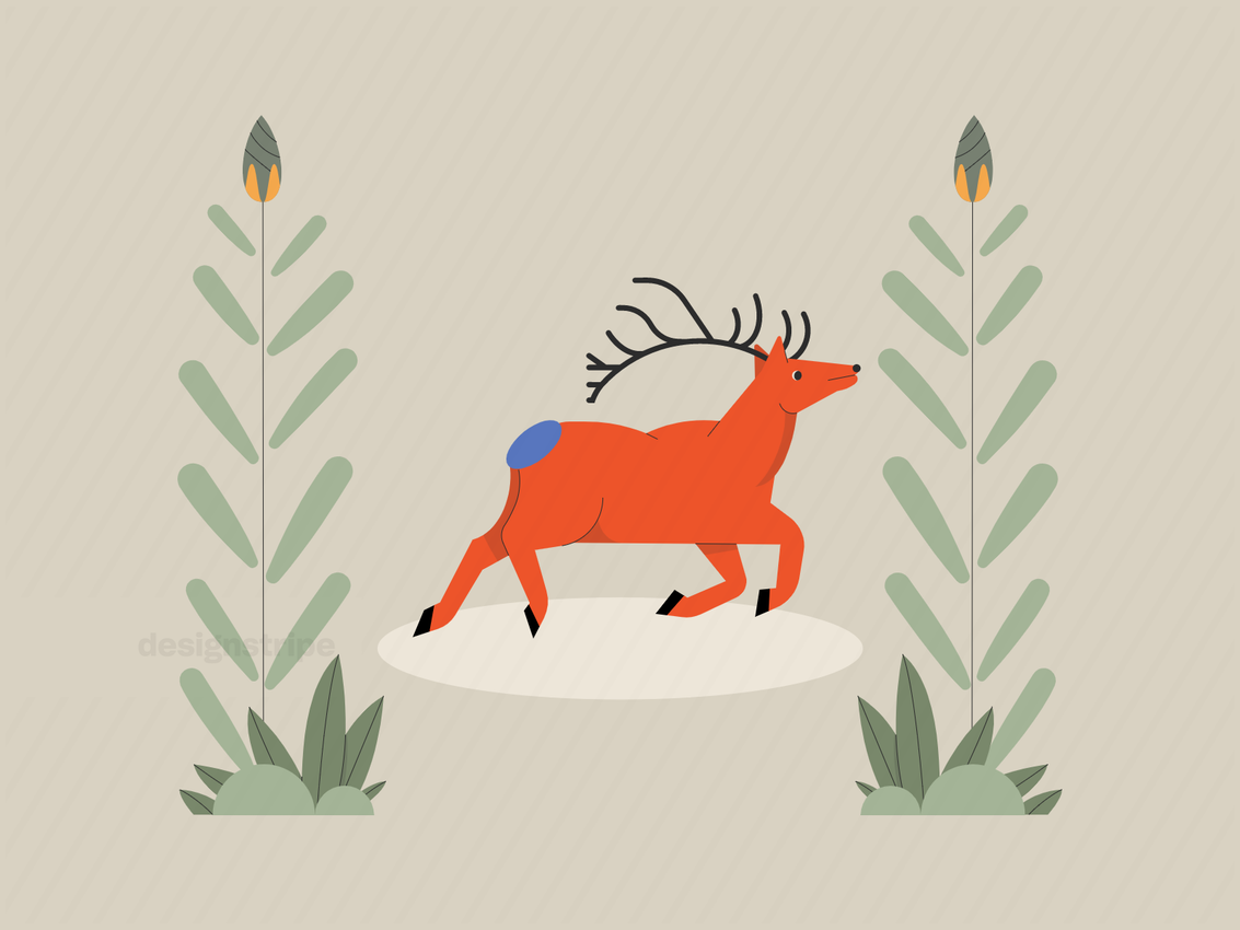Illustration Of Animal In The Wild