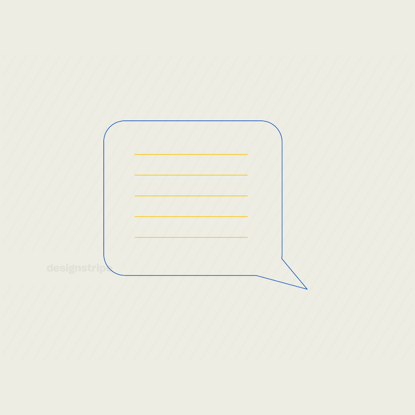 Illustration Of Dialogue text bubble